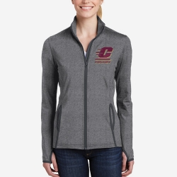 Ladies Stretch Contrast Full-Zip Jacket