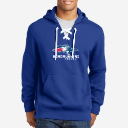 Lace Up Pullover Hooded Sweatshirt