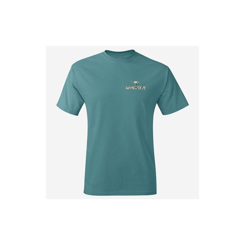 Team t shirt with left chest logo wagner college ice for T shirt left chest logo size